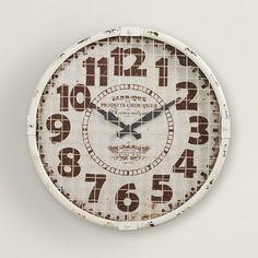 "17"" Ole Factory Wall Clock"