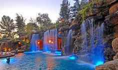 Having a pool sounds awesome especially if you are working with the best backyard pool landscaping ideas there is. How you design a proper backyard with a pool matters. Amazing Swimming Pools, Luxury Swimming Pools, Luxury Pools, Dream Pools, Swimming Pool Designs, Cool Pools, Awesome Pools, Pool Waterfall, Pool Accessories