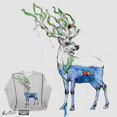 Deer and Fish on Threadless