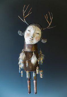 Morgan Brig - I know several lives worth living Mixed Media Sculpture, Soft Sculpture, Marionette, Art Brut, Creepy Dolls, Collage, Assemblage Art, Box Art, Art Techniques
