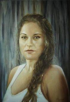 "Saatchi Art Artist ΑγγελικΗ Ageliki; Painting, ""Danai"" #art"