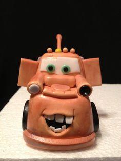 Cars Fondant Cake/Cupcake Topper by HeavenlyCakesFL on Etsy, $60.00