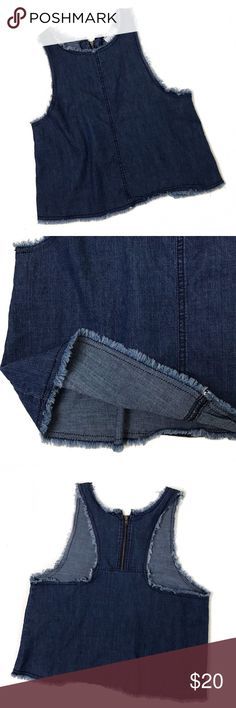"bp • denim cropped top in great condition.   measurements-  shoulders 10""   armpit to armpit 17""   length 19"" bp Tops"