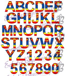 Alphabet And Numbers PNG Digital File Diy Print Clip