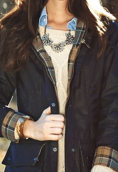 i need it to get cold fast! love this look. layered cable knit. #style #inspiration #zappos