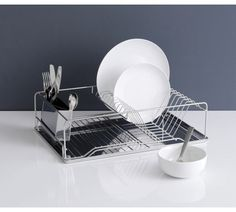 Buy Habitat Decker Stainless Steel Dish Drainer at Argos.co.uk, visit Argos.co.uk to shop online for Dish racks and mats, Kitchenware, Cooking, dining and kitchen equipment, Home and garden