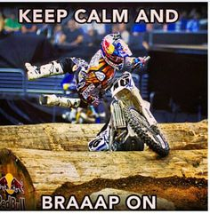 Dirt bike be calm and be the calm bike..not possible