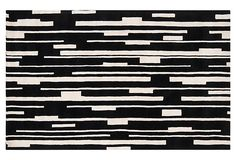 One Kings Lane - Out of Line - Fredrick Rug, Jet Black