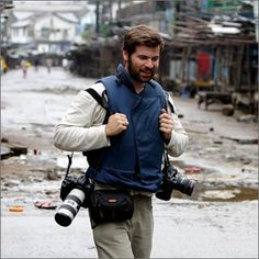 On April 20, 2011 while covering the conflict in Libya, Chris Hondros and fellow photographer Tim Hetherington were killed by Libyan forces in a mortar attack on the besieged city of Misrata. http://www.chrishondros.com/images/mug.jpg