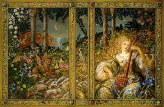 Song for the Basilisk, by Patricia McKillip (cover art by Kinuko Craft) Wonder Art, Fantasy Authors, Fantastic Art, Print Artist, Illustrators, Fairy Tales, Concept Art, Illustration Art, Book Illustrations