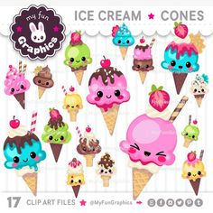 Clipart, Ice Cream Cone Drawing, Cartoon Cupcakes, Pink Glitter Background, Cupcake Pictures, Candy Labels, Kawaii Doodles, Plastic Art, Art File
