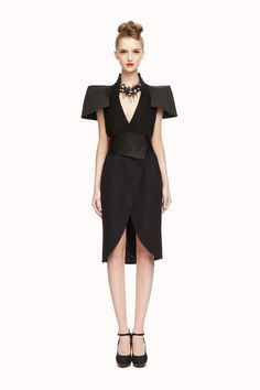Lovely black dress. Changa Park is a new designer to follow.
