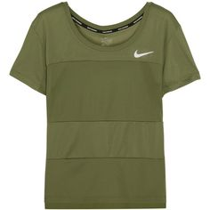 Nike Paneled Dri-FIT stretch-jersey T-shirt ( 52) ❤ liked on Polyvore  featuring activewear 3fa90256b