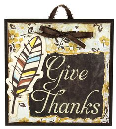 Give Thanks 5x5 Tile - Click through for project instructions.