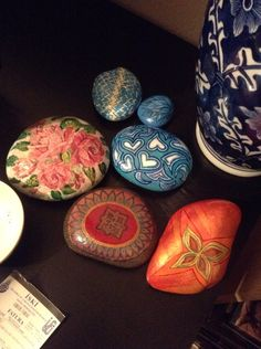 Pretty assortment of painted rocks,by Sibelius Elif!