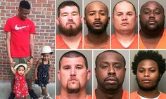 Seven bounty hunters who descended on the wrong car outside a Wal-Mart have been indicted on first-degree murder charges in the killing of an unarmed man and the wounding of another.