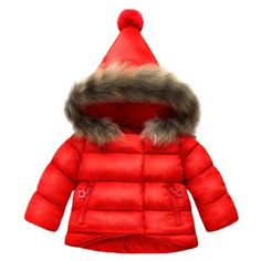 Jojobaby Baby Boys Girls Hooded Snowsuit Winter Warm Fur Collar Hooded Down Windproof Jacket Outerwear Years, Red) Best Winter Coats for Women USA Kids Winter Jackets, Girls Winter Coats, Kids Coats, Baby Outfits, Kids Outfits, Travel Outfits, Girls Parka, Baby Girl Winter, Baby Kind