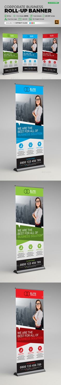 Corporate Business Roll-up Banner Template Vector EPS, AI #design Download: http://graphicriver.net/item/corporate-business-rollup-banner/14235788?ref=ksioks