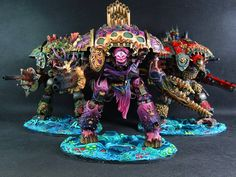 Warhammer 40k | Imperial Knights | Chaos Imperial Knights with marks of Nurgle…