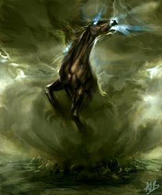 "Horses:  ""Element Earth,"" by alexandrabirchmore, at deviantART."