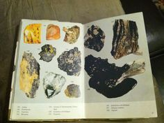 natural history, from a minerals and rocks book, graphic print layout