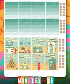Summer Beach Planner Sticker Kit for your Erin Condren Life Planner, Happy Planner, or any planner! by MoogleyandMe on Etsy