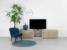 Bauholz TV-Schrank im industriellen Design mit Stahl Küche ...