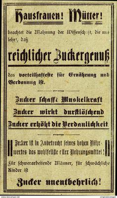 Original-Werbung/Anzeige 1907 - ZUCKER - Ca. 90 X 150 Mm - Werbung