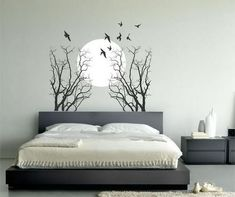 There are many ideas for bedroom wall decoration. But I am saying here that some suggestions for you to bedroom wall decor. I think wall hanging tapes. Bedroom Wall Designs, Wall Decals For Bedroom, Bedroom Murals, Bedroom Decor, Decals For Walls, Wall Painting Decor, Bedroom Vintage, Awesome Bedrooms, Living Room Decor