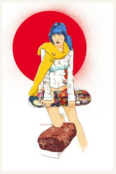 Japanese Skater Girl