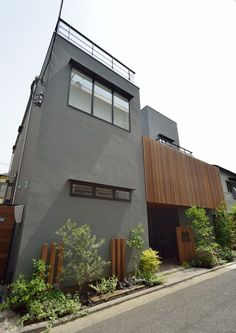 Villa Design, Facade Design, House Design, House Paint Exterior, Interior And Exterior, Contemporary Architecture, Interior Architecture, Japan Modern House, Japanese House