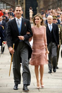 Spanish King Philip VI and Queen Letizia visit the Cathedral of Santiago de Compostela in Galicia Official Day, 25.07.2014