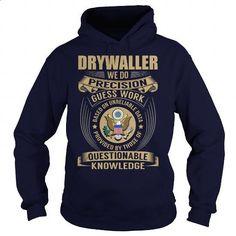 Drywaller - Job Title - #pink sweatshirt #hoodies womens. CHECK PRICE => https://www.sunfrog.com/Jobs/Drywaller--Job-Title-107129343-Navy-Blue-Hoodie.html?60505
