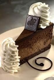 The Cheescake factory Godiva Chocolate Cheescake...can you say Yum!