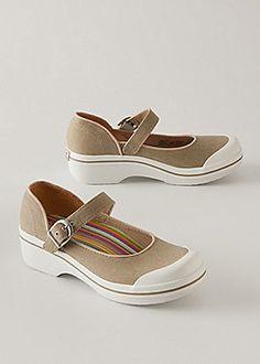 Women's Dansko Solid Mary Janes, canvas vegan-friendly shoes | Sahalie