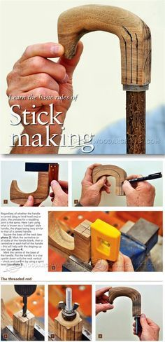 Making Walking Sticks - Woodworking Plans and Projects | WoodArchivist.com