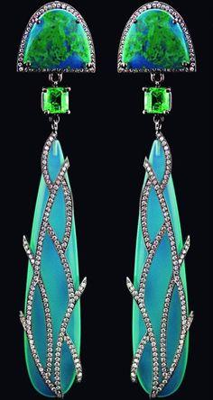 Fabulous Art Nouveau Opal and Diamond Pin Lalique Jewelry, Opal Jewelry, I Love Jewelry, Fine Jewelry, Opal Earrings, Drop Earrings, Peacock Earrings, Geek Jewelry, Luxury Jewelry