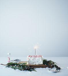 Icy Peppermint Cake Recipe Nikole Herriott for Oh Joy Winter Holidays, Happy Holidays, Christmas Holidays, Xmas, Christmas Carol, Cupcakes, Cupcake Cakes, Peppermint Cake, Peppermint Chocolate