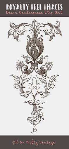 Royalty Free Images - Flourish Ornament - http://vintagegraphics.ohsonifty.com/royalty-free-images-flourish-ornament/