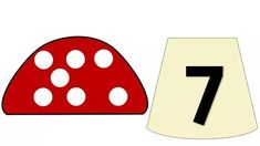 Математические мухоморчики Numbers Preschool, Math Numbers, Math Games, Preschool Activities, Number Flashcards, Busy Book, Pre School, Diy And Crafts, Language