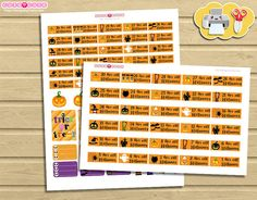 Halloween Countdown Printables. Planner Stickers halloween weekly kit. Great for your Erin Condren or Happy planner. Print and Cut  ❤ Include JPG files documents for easy printing. letter 8,5 x 11 (work perfect with A4 papers) ❤ Print as many times as you like!. ❤ It is important that they are printed actual size in your print machine options. ❤ This listing is a digital item, we dont ship physical products.  FAQ 1.- Print in any self-adhesive sticker paper or labels. Most popular avery…