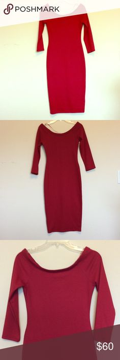 Zara Trafaluc Collectors Season Dress NWOT. Only tried on. Red. 3/4 Sleeve. Wide shoulder. Below knee depending in height may fall lower. 73% Polyester, 23% Viscose, 6% Elastic. Body fitting and accentuating. Perfect for date night or girls night! Sexy & Effortless Chic 😉! Zara Dresses