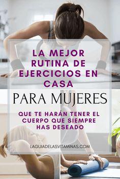 Rutina de ejercicios en casa para mujeres sin usar equipo - La Guía de las Vitaminas