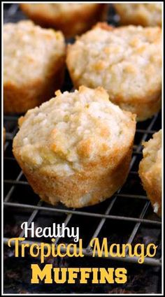 Tropical Mango Muffins - easy gluten free, soy free and dairy free- SnappyGourmet.com