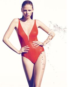 92f2e42b8e Lara Stone is the Face of Eres Swimwear Maillot De Bain, Maillots,  Enveloppes,