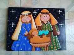 Resultado de imagen para dibujos de pesebres estilo country Christmas Nativity, Christmas Star, Xmas, Christmas Ornaments, Love Holidays, Holidays And Events, Kirby Character, Christmas Card Pictures, Painted Gourds