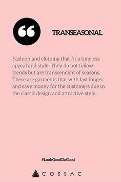 The Modern Girl's Eco Fashion Dictionary | COSSAC #ethicalfashion