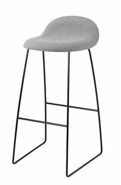 Gubi 32 (Front Upholstered) HiRek stool by Gubi