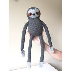 Simon the Sloth: A Crochet toy PDF Pattern by AnnaboosHouse