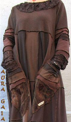 AuraGaia's Eartha~ Poorgirl Boho Tattered Upcycled Long Dress